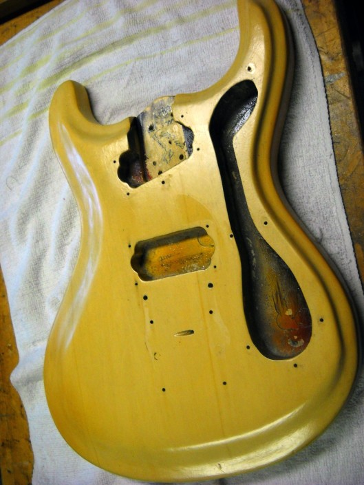 Electric guitar refinish & restoration