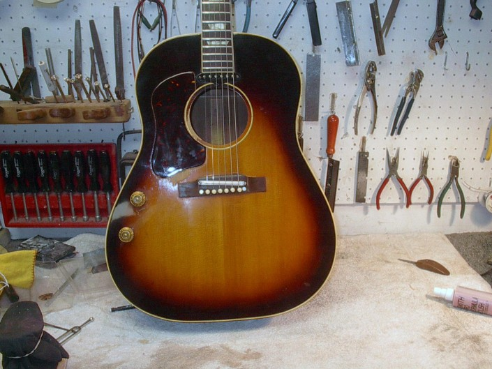 Gibson J-160E Acoustic Guitar Repair