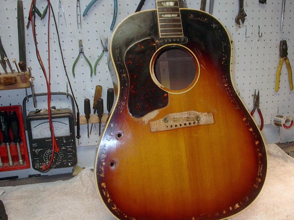 Gibson Service Giftsforsubs 1965 Es345 Wiring Repair Chicago Fret Works Guitar Florida Vintage
