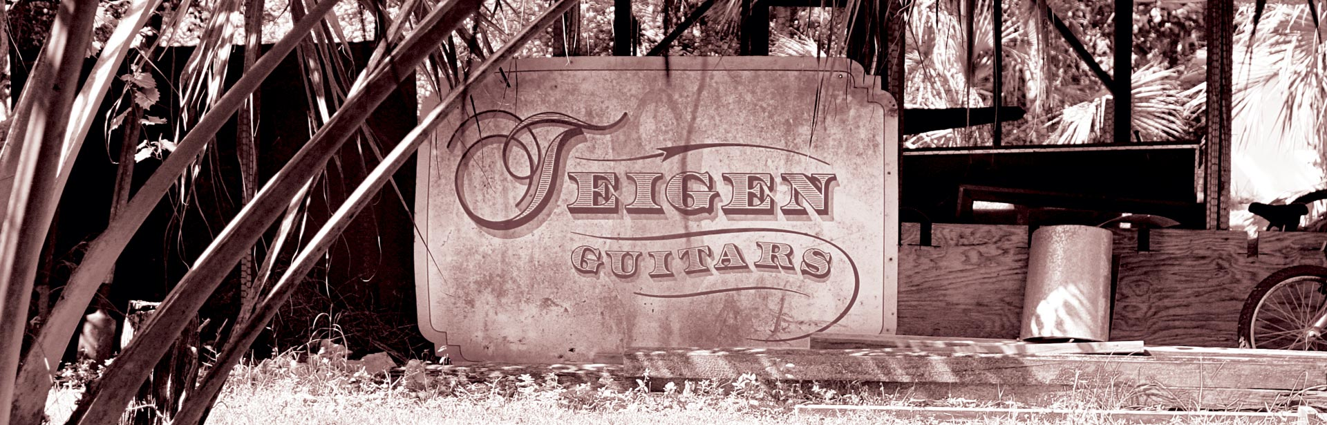 Teigen Guitars Shop Sign